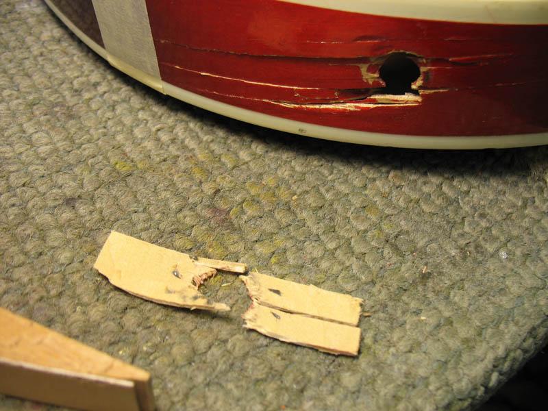 Repair damaged jack hole 2/5