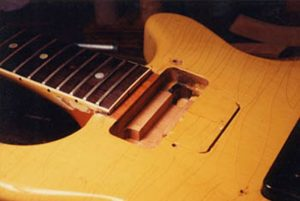 Routed pickup cavity