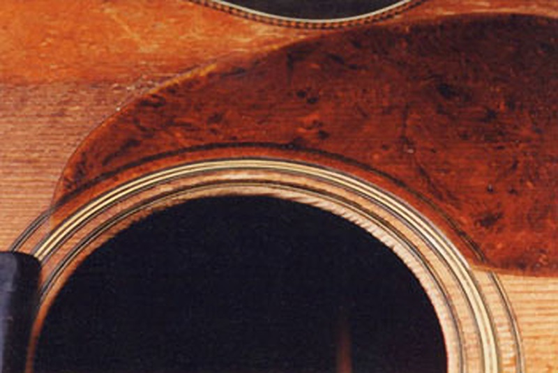 image of repaired sound hole