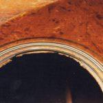 image of damaged sound hole