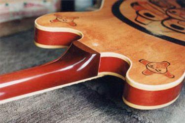Repaired broken guitar neck