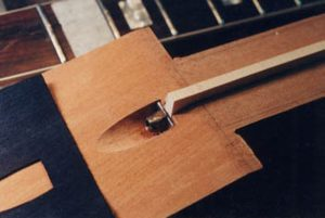 image of making a truss rod cavity