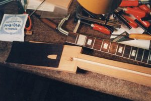 image of making truss rod cavity