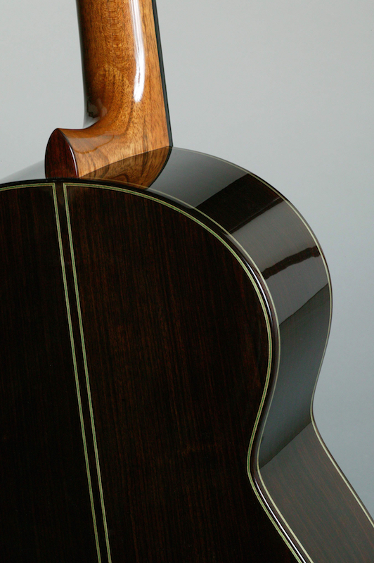 image of back of guitar