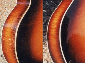 image of side of guitar