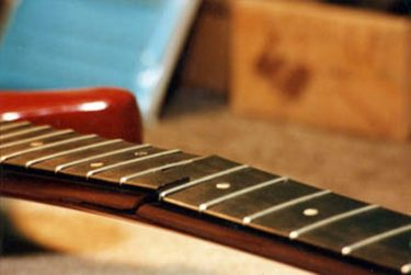Guitar neck break - before repair