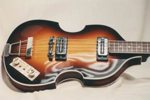 image of repaired Hofner's violin bass