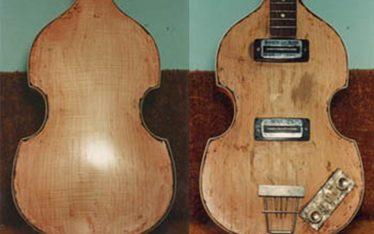 image of Hofner's violin bass guitar