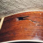 Repairing Brazilian rosewood side of vintage Martin 000-28