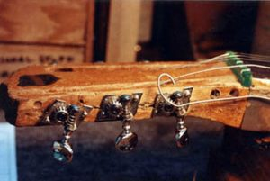 image of the cracks on the headstock