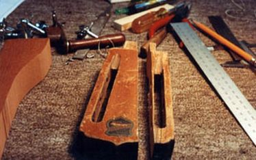 image of custting the headstock