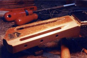 image of the shaped headstock