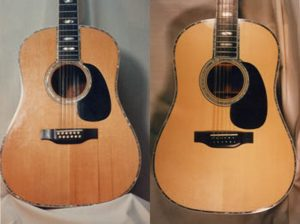 Installing new top, binding, and inlay on Martin D-45