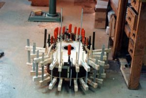 image of gluing the top