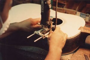 image of making a channel for inlay