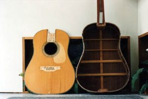 The damaged top was removed from Martin D45