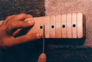 Re-cutting fret slots on Fender maple neck