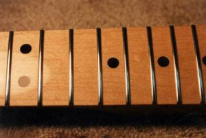 Refretted and refinished Fender maple neck