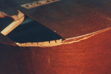 Broken mahogany top and the side