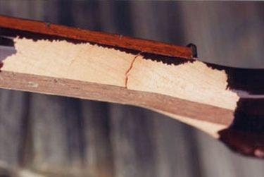 Cracks at the guitar neck