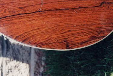 Repaired top of vintage Martin 000-28, 1945