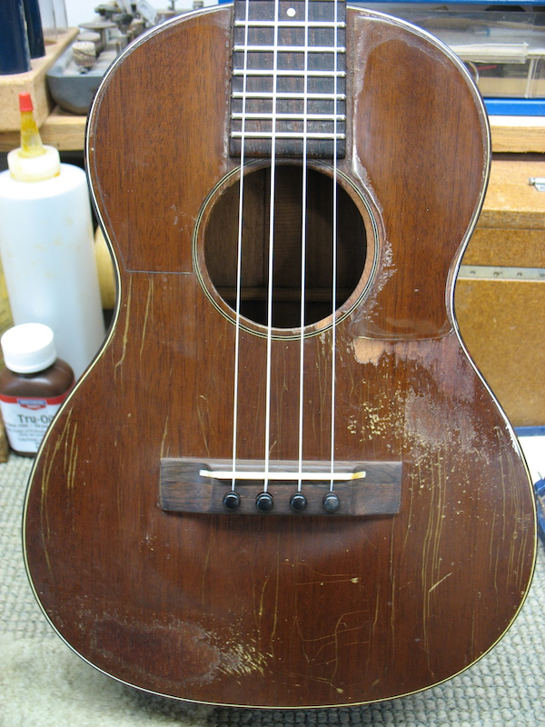 The saddle was relocated forward for the correct intonation