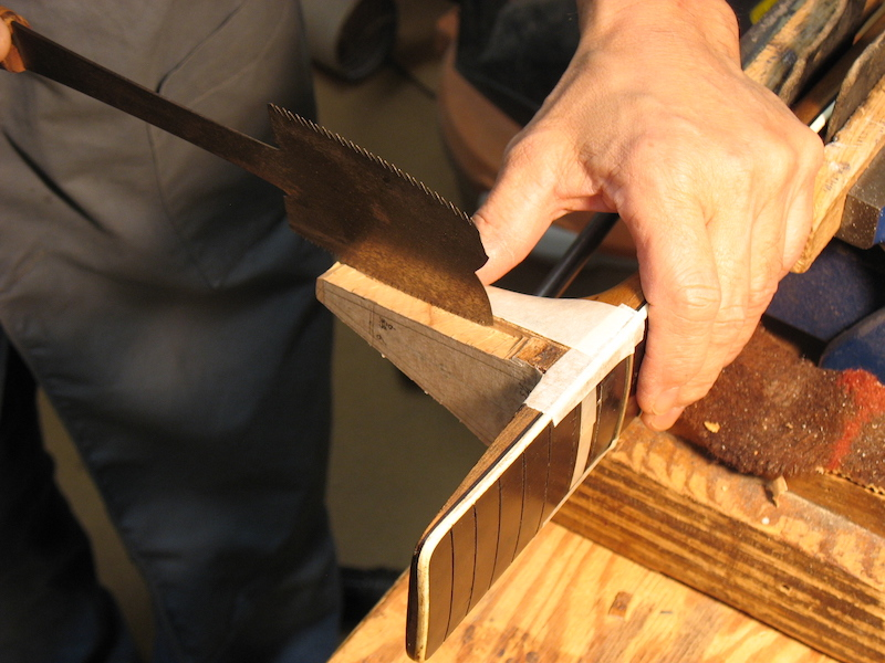 Creating a male part of a dovetail neck joint