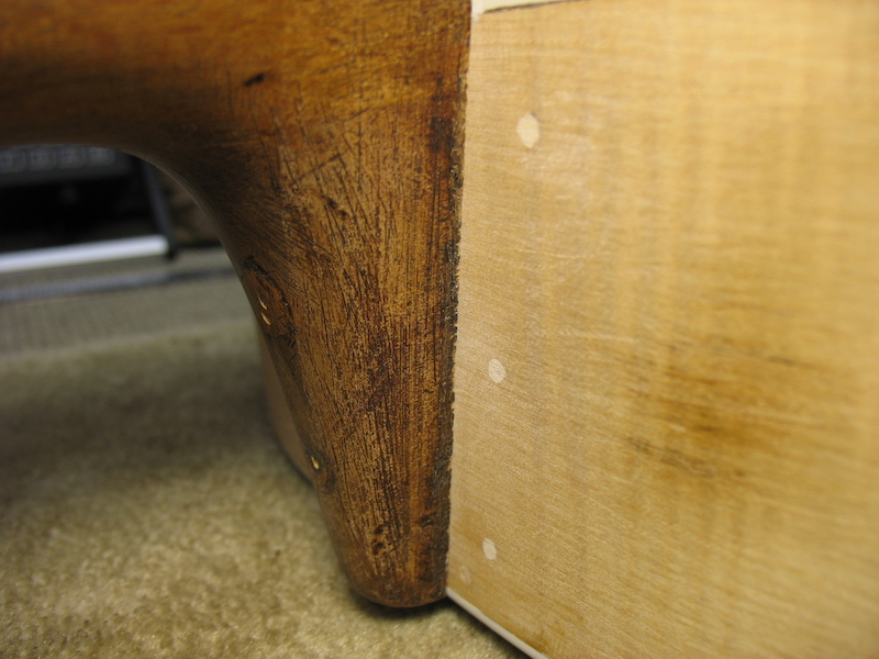 Created dovetail neck joint